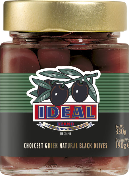 WHOLE BLACK OLIVES IN JAR
