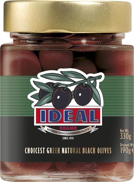 WHOLE BLACK OLIVES IN JAR