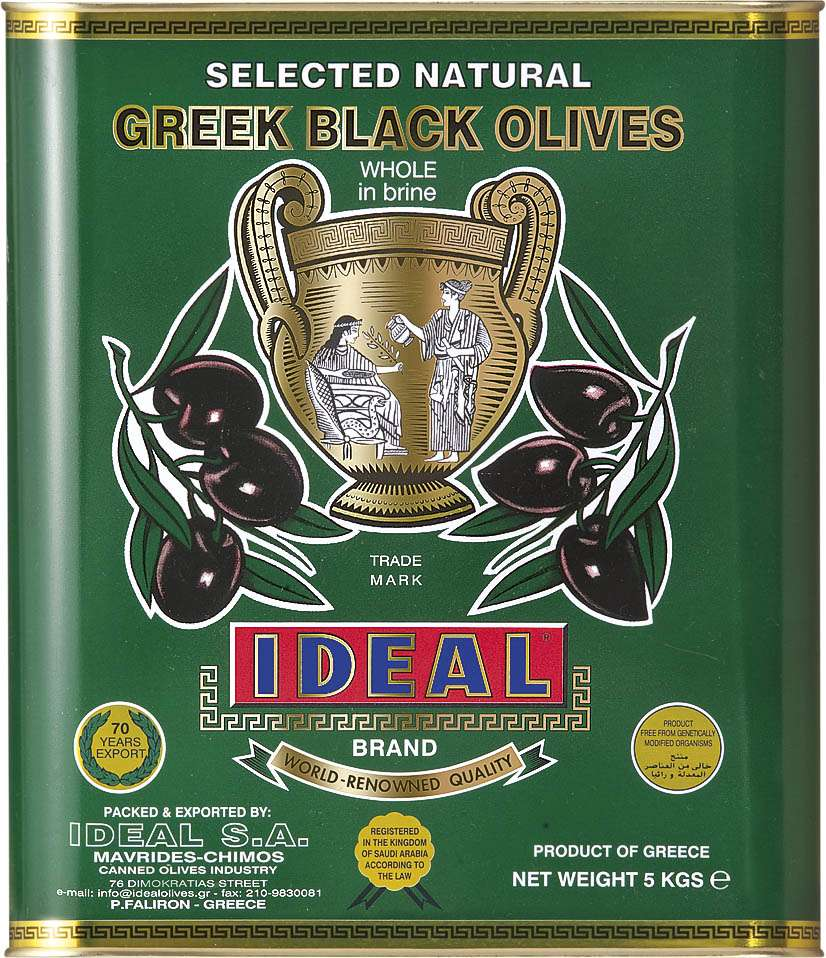 BLACK OR KALAMATA OLIVES IN TIN