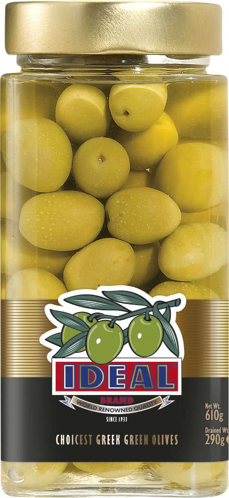 WHOLE GREEN OLIVES IN JAR