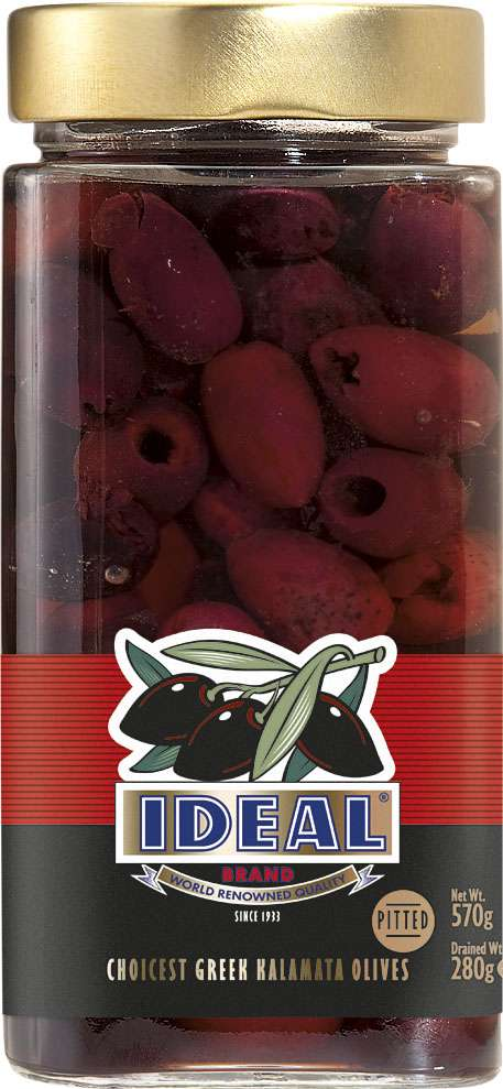 SLICED KALAMATA OLIVES IN JAR