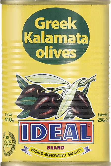 WHOLE KALAMATA OLIVES IN TIN